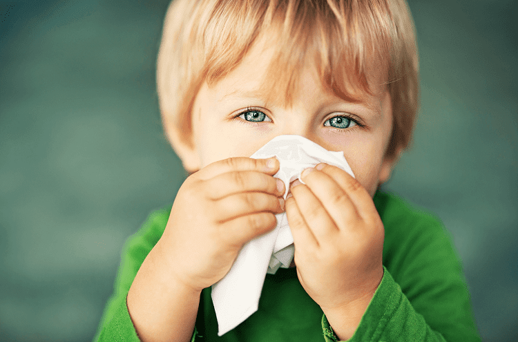 Little Boy With Tissue