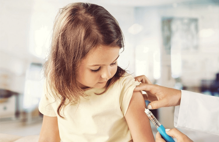 Girl Taking Flu Shot